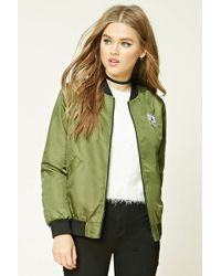 Forever 21 - Patch Graphic Bomber Jacket - Lyst