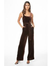 979b8d063910 Forever 21 Floral Wide Leg Jumpsuit in Black - Lyst
