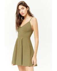 Forever 21 - Strappy Skater Dress - Lyst
