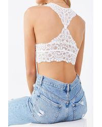 Forever 21 Floral Lace Bralette - White