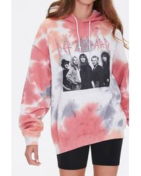 Forever 21 Def Leppard Graphic Tie-dye Hoodie - Gray