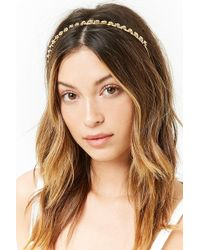 Forever 21 - Rhinestone Rose Headband - Lyst