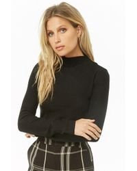 Forever 21 - Brushed Knit Mock Neck Top - Lyst