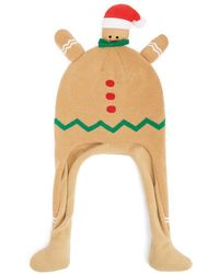 Forever 21 Gingerbread Trapper Beanie - Yellow