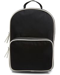 Forever 21 Faux Leather Trim Backpack , Black