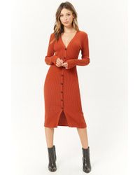 Forever 21 - Ribbed Duster Cardigan - Lyst