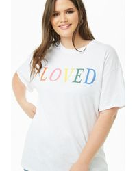 6ff4c619d9a Forever 21 Plus Size The Style Club Graphic Tee in White - Lyst