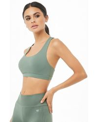 24435d7d76 Forever 21 - High-impact Strappy-back Sports Bra - Lyst
