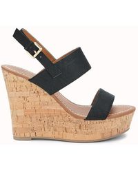 Forever 21 - Faux Leather Wedges - Lyst
