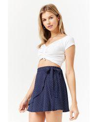 Forever 21 - Polka Dot Wrap Mini Skirt - Lyst