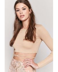 Forever 21 - Cutout Crop Top - Lyst