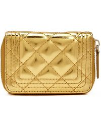 Forever 21 Quilted Mini Wallet - Metallic