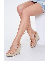Forever 21 Lace-up Espadrille Wedges - Multicolour