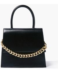 Forever 21 Faux Leather Structured Satchel In Black