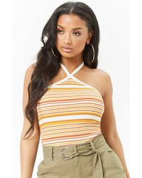 Forever 21 - Striped Halter Knit Top - Lyst