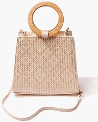 Forever 21 Threaded Geo Bag - Natural