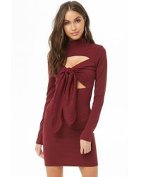 Forever 21 - Women's Plus Size Cutout Mock Neck Mini Dress - Lyst