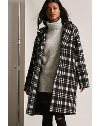 Forever 21 | Plaid Buttoned Topcoat | Lyst