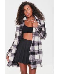 Forever 21 - Faux Shearling Plaid Co - Lyst