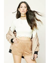 Forever 21 | Faux Suede Shorts | Lyst