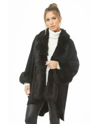 Forever 21 - May Logan Faux Fur Poncho - Lyst