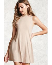 Forever 21 - Ribbed Swing Dress - Lyst