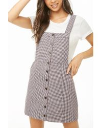 Forever 21 - Houndstooth Pinafore Dress - Lyst