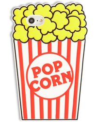 Forever 21 Popcorn Graphic Phone Case For Iphone 6/7/8 , Yellow/multi - Multicolor