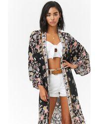 Forever 21 - Ornate Floral Kimono - Lyst