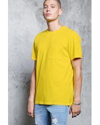 Forever 21 T-shirt con taschino - Giallo