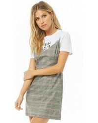 Forever 21 - Plaid Mini Dress - Lyst