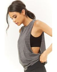 Forever 21 - Active Heathered Knit Muscle Tee - Lyst