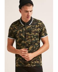 Forever 21 - 's Camo Print Polo Shirt - Lyst