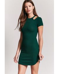 Forever 21 - Open-shoulder Bodycon Dress - Lyst