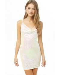 Forever 21 - Iridescent Sequin Cowl Neck Dress - Lyst