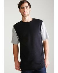 Forever 21 - Colorblocked Sweatshirt Tee - Lyst