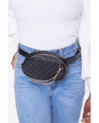 Forever 21 Quilted Round Belt Bag - Black