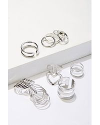 Forever 21 Assorted High-polish Ring Set , Silver - Metallic