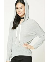 Forever 21 | Heathered Knit Hoodie | Lyst