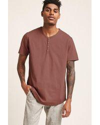 Forever 21 T-shirt con collo a serafino - Multicolore