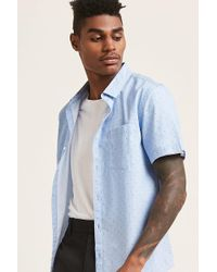 Forever 21 - Pinstripe Pin-dot Shirt - Lyst