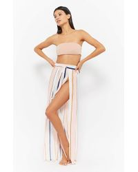 Forever 21 - Striped Split Cover-up Pants - Lyst