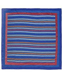 Forever 21 Striped Print Scarf - Blue