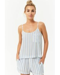 Forever 21 - Striped Cami & Shorts Pj Set - Lyst