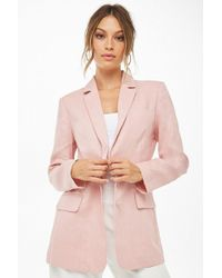 Image result for Linen Single-Breasted Blazer forever 21 rose