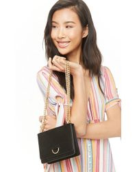Forever 21 - Faux Suede Crossbody , Black - Lyst