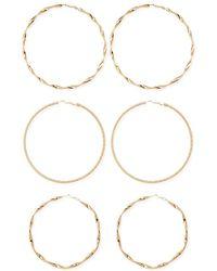 Forever 21 - Oversized Hoop Earring Set - Lyst