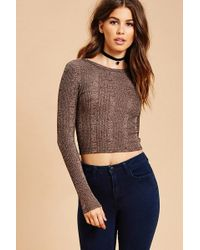 Forever 21 - Marled Ribbed Knit Top - Lyst