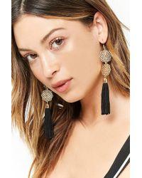 Forever 21 - Filigree Tassel Drop Earrings - Lyst