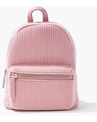 Forever 21 Ribbed Mini Backpack - Pink
